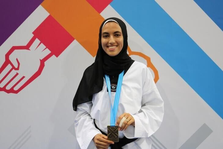 Farah Sedky mit Medaille